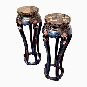 Italian Chinoiserie Side Tables, 1960s, Set of 2