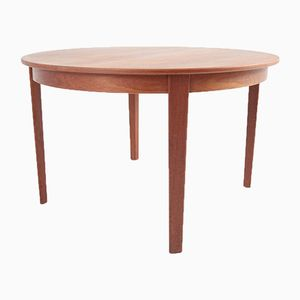 Mid-Century Danish Extendable Round Dining Table, 1950s
