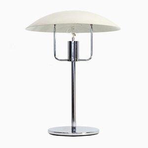 Lámpara de mesa de metal cromado de SCE, años 70