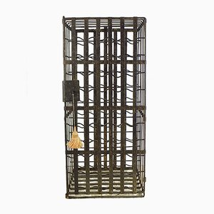 19th Century Hand Forged Iron Wine Rack