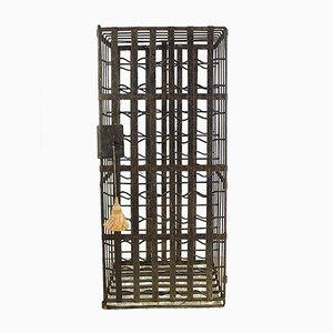 Rastrelliera portabottiglie in ferro battuto a mano, XIX secolo