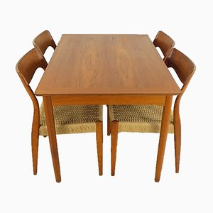 Teak Dining Set by Niels Otto Møller for J.L. Møllers, 1950s