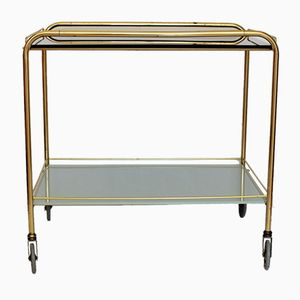 Mid-Century Brass Serving Cart, 1950s