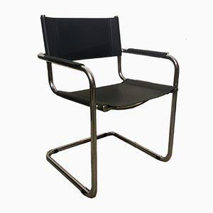Chromed Metal Armchair, 1950s