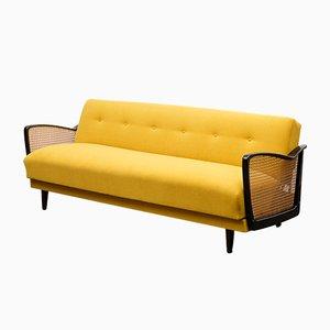 Faltbares Sofa aus Wiener Korbgeflecht, 1950er
