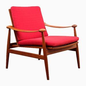 Modell 133 Armlehnstuhl aus Teak von Finn Juhl für France & Son, 1950er