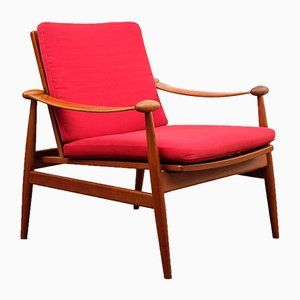 Teak Model 133 Armchair by Finn Juhl for France & Son, 1950s