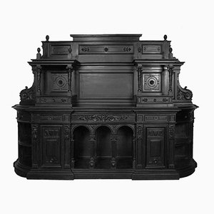 Ebonized Carved Palladian Walnut Highboard, 1750s