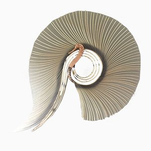 Large Brass Swan by C. Jeré, 1980s