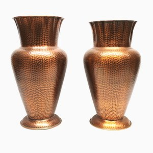 Vintage Copper Vases, 1960s, Set of 2