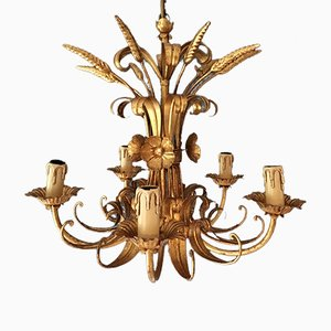 French Wheat Sheaf Chandelier, 1950s