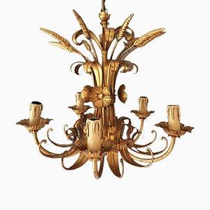 Lámpara de araña francesa en forma de gavilla de trigo, años 50