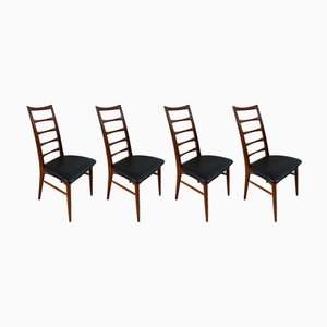 Model Lis Dining Chairs by Niels Koefoed for Koefoeds Hornslet, Set of 4