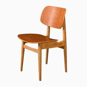 Deutscher Stuhl aus Schichtholz, 1950er