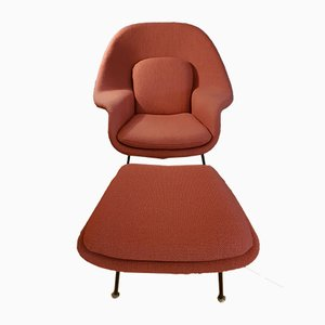 Womb Chair & Ottoman by Eero Saarinen for Knoll International, 1960s