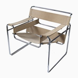 Vintage Canvas B3 Wassily Chair by Marcel Breuer for Gavina, 1960s