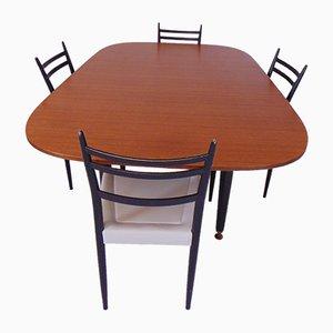 Tavolo da pranzo allungabile Librenza con sedie di G-Plan, anni '60