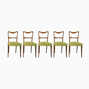 Italian Dining Chairs by Paolo Buffa for Saffa, 1950s, Set of 5