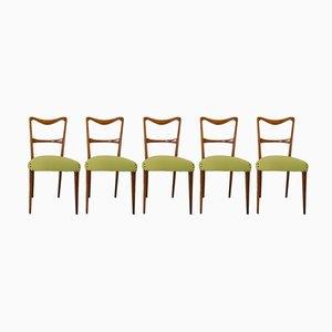Italienische Esszimmerstühle, 1950er, 5er Set