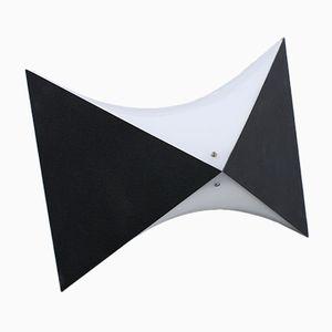 Schwarze & weiße Op Art Grafik Wandlampen von Raak, 1960er, 2er Set