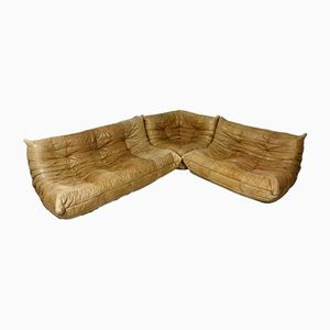 Leather Togo Sofa by Michel Ducaroy for Ligne Roset, 1970s
