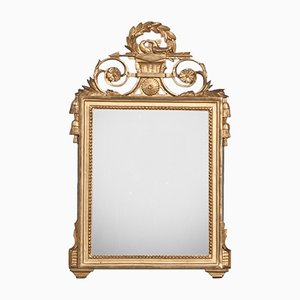 Antique French Trumeau Mirror