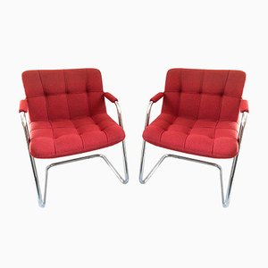 Vintage Model FB403 Storm Armchairs by Yves Christin for Airborne, 1960s, Set of 2