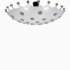 Lampada da soffitto grande di Emil Stejnar per Rupert Nikoll, anni '50