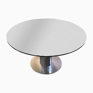 Mid-Century Modern Italian Chromed Base Dining Table, 1970s