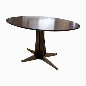 Mesa de comedor italiana moderna ovalada, años 50
