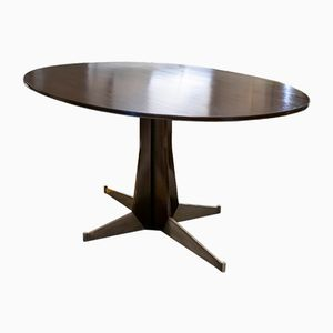 Oval Italian Modern Dining Table, 1950s