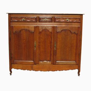 Antique Solid Oak Buffet, 1890s