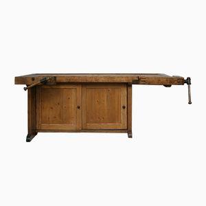 Banco de carpintero con puertas correderas, años 30