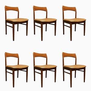 Dänische Esszimmerstühle aus Teak von Henning Kjaernulf für Vejle Møbelfabrik, 1960er, 6er Set