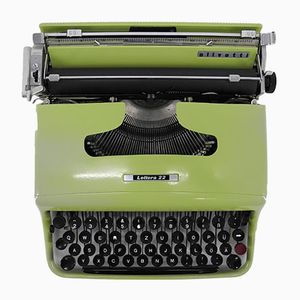 Mid-Century Lettera 22 Typewriter by Marcello Nizzoli for Olivetti Synthesis