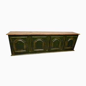 Vintage French Buffet with Green Patina