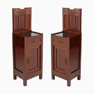 Italian Art Nouveau Nightstands, Set of 2