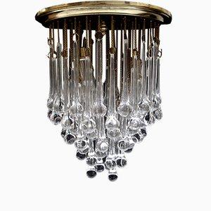 Lámpara de araña vintage de cristal de Murano de Paolo Venini, años 60