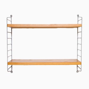 String Shelf with Grey Ladders by Nisse Strinning for String, 1960s