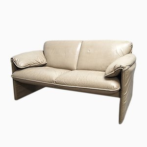 Bella Bora Beige Leather Sofa by Axel Enthoven for Leolux, 1980s