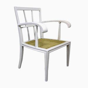Weiß lackierter Jugendstil Armlehnstuhl aus Buchenholz von Josef Hoffmann