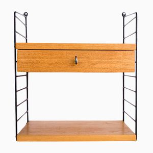 Vintage String Shelf with Drawer by Kajsa & Nils Nisse Strinning for String, 1960s