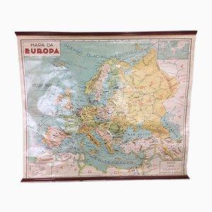 Carte de l'Europe en Langue Portugaise, 1971