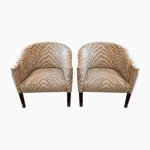 Vintage Art Deco Style Armchairs, 1940s, Set of 2