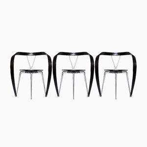 Stühle aus Buche von Andrea Branzi für Cassina, 1990er, 3er Set
