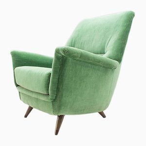 Green Italian Armchair, 1950s