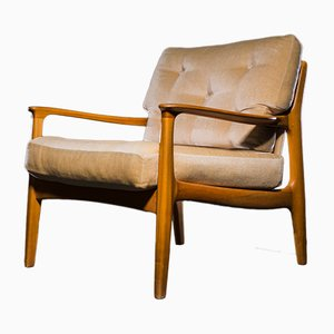 Mid-Century Cherrywood Easy Chair by Eugen Schmidt for Soloform, 1960s