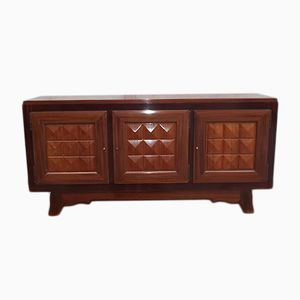 Art Deco Mahogany Sideboard by Gaston Poisson, 1940s