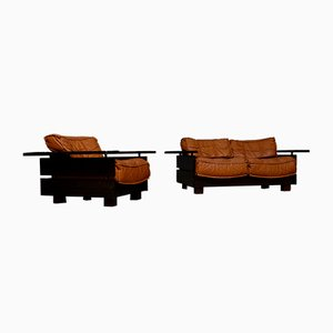 Sofa and Lounge Chair from Hämeen Kalustaja, 1970s
