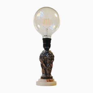 Art Deco Metallurgie-Tischlampe von Curt Schlevogt, 1930er